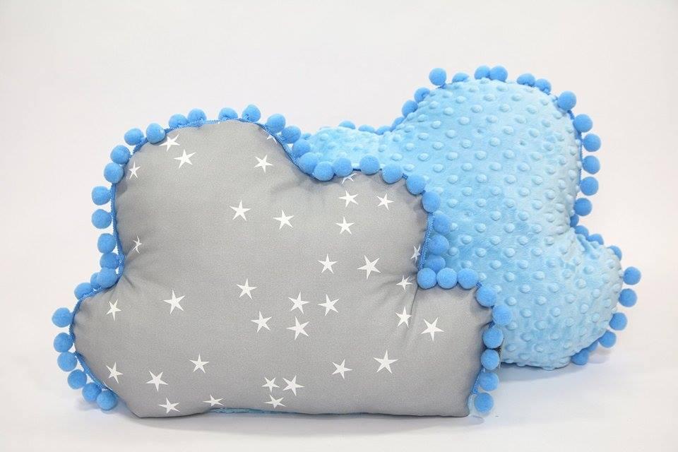 Decoratie kussen minky wolkje Stars blauw Tiny Star | Baby's Paradijs | 22323402 1916488151698120 1638506778 n
