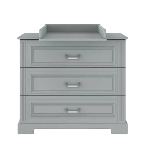 Ines Grey - doorgroeibed, commode, kast | Baby's Paradijs | Ines grey chest of drawers with dresser 01