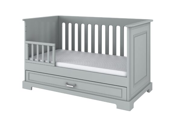 Ines Grey - doorgroeibed, commode, kast | Baby's Paradijs | Ines grey sofa bed 70x140 with blocade