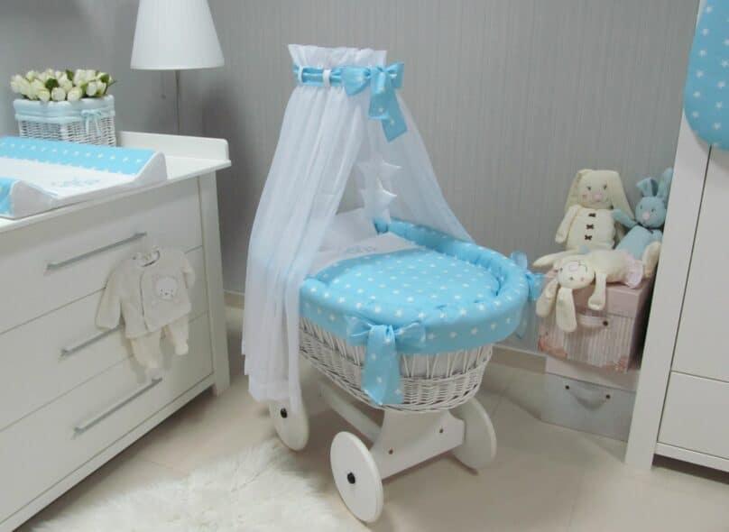Babyspeciaalzaak | Baby's Paradijs | kosz kola bialy gwiazdki nieb