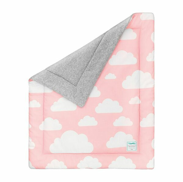 Deken Wolkjes Pink & Grey Lamps & Co | Baby's Paradijs | Kocyk20ocieplany20Chmurki20Pink preview.jpeg
