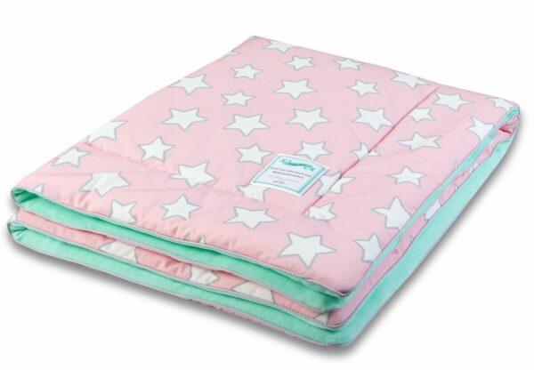 Deken Stars Pink & Grey Stars   Baby's Paradijs   Kocyk20ocieplany20Pink20Stars203 preview.jpeg