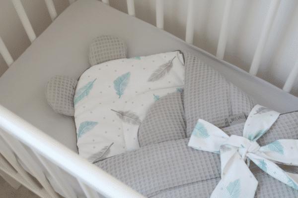 Wikkeldeken wafelstof Sweet Plumes | Baby's Paradijs | IMG 6919