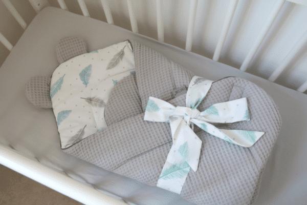 Wikkeldeken wafelstof Sweet Plumes | Baby's Paradijs | IMG 6922