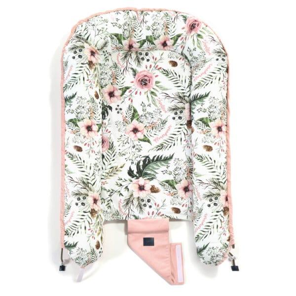 VELVET COLLECTION - BEST NEST - WILD BLOSSOM - POWDER PINK   Baby's Paradijs   baby nest la millou velvet powder pink wild blossom 4