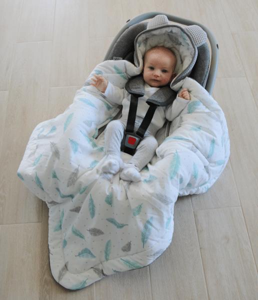 Autostoel voetenzak 0-8 maanden Sweet Plumes | Baby's Paradijs | IMG 7764 1