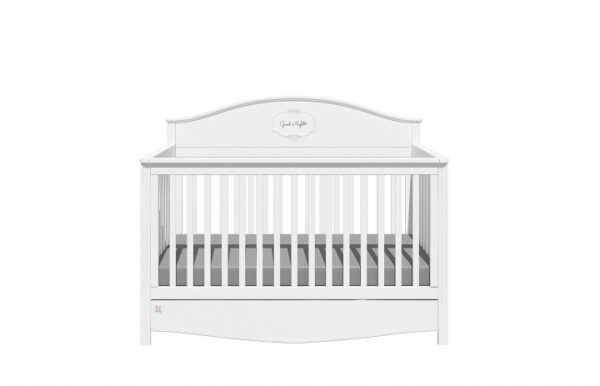 Doorgroeibed & 4-lades commode - Good Night Pure | Baby's Paradijs | GN SNOW 1