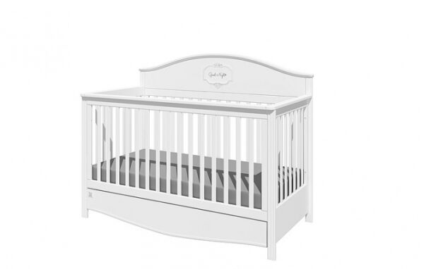 Doorgroeibed & 4-lades commode - Good Night Pure | Baby's Paradijs | GN SNOW 2