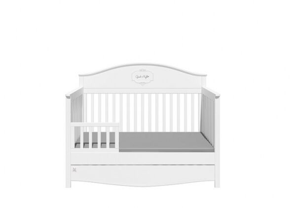 Doorgroeibed & 4-lades commode - Good Night Pure | Baby's Paradijs | GN SNOW 3