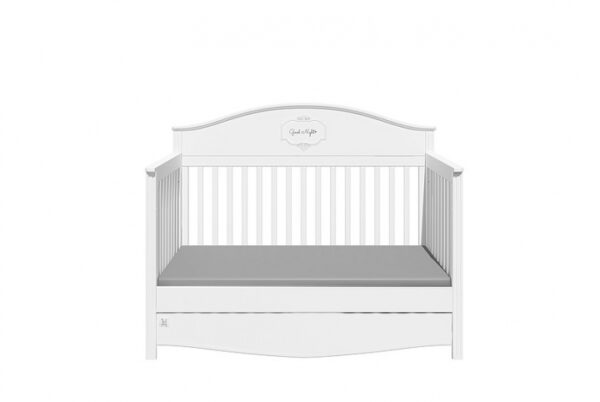 Doorgroeibed & 4-lades commode - Good Night Pure | Baby's Paradijs | GN SNOW 4