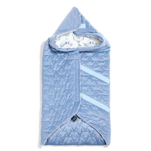 ORGANIC JERSEY COLLECTION - CAR SEAT BLANKET - CAPPADOCIA SKY - VELVET DOVE BLUE | Baby's Paradijs | kocyk do fotelika samohodowego la millou velvet dove blue cappadocia sky 2