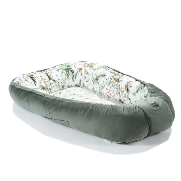 BABYNESTJE VELVET COLLECTION - FOREST KHAKI - La Millou | Baby's Paradijs | baby nest la millou velvet khaki forest3