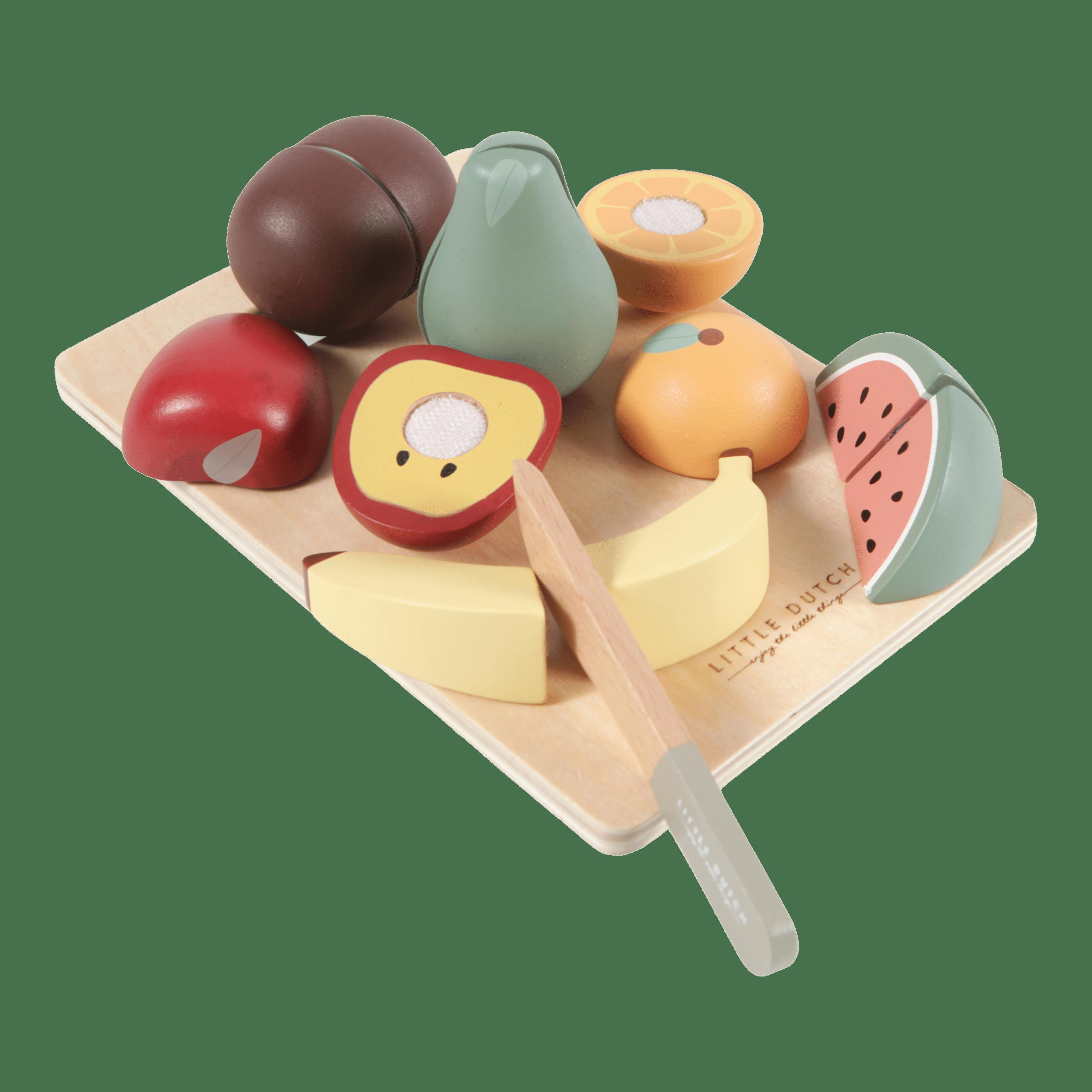 Houten snijset fruit - Little Dutch