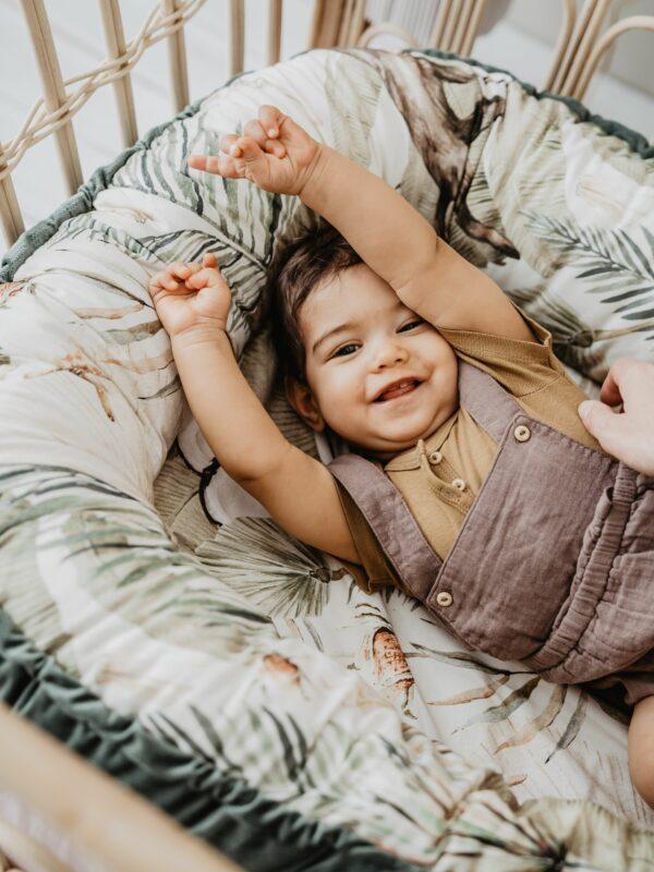 VELVET COLLECTION - BEST NEST - BOHO COCO - KHAKI | Baby's Paradijs | F0he Tfg scaled