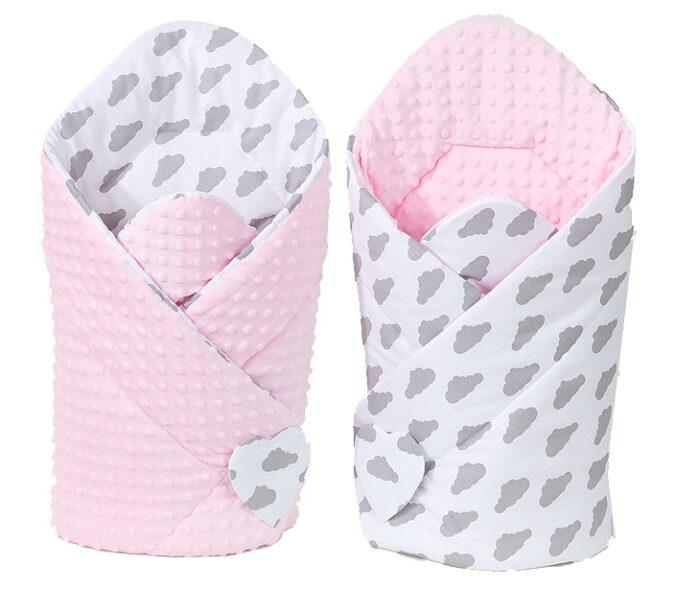 Sale | Baby's Paradijs | big rozek minky chmurki roz