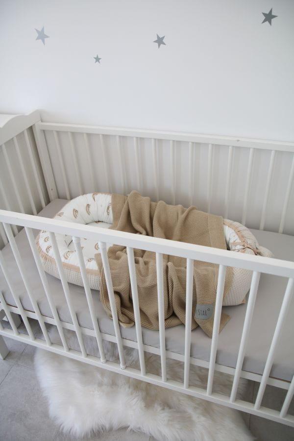 Bamboe Deken Latte Tiny Star   Baby's Paradijs   Kocyk w lozeczku dziecka