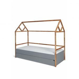 Bed-Huis-Frame-90-x-200-cm-met-Lade-Lotta-Gray-2