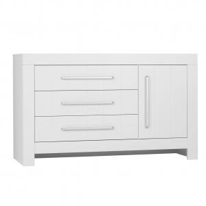 Commode - 3 lades + 1 deur - Calmo white