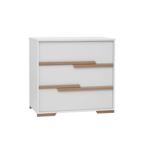 Commode - 3 lades - Snap White