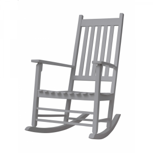 Cosy Rocking Chair - Gray 1