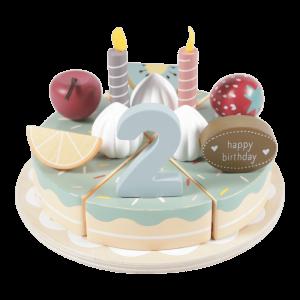 Houten verjaardagstaartje - 26-delig - Little Dutch