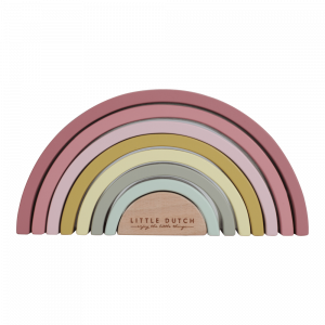 Regenboogstapelaar roze - Little Dutch